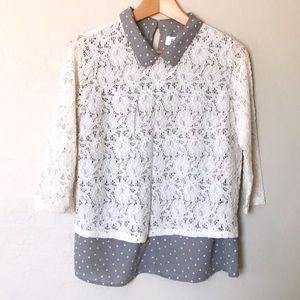 Elle | Lace Detailed Collar Shirt